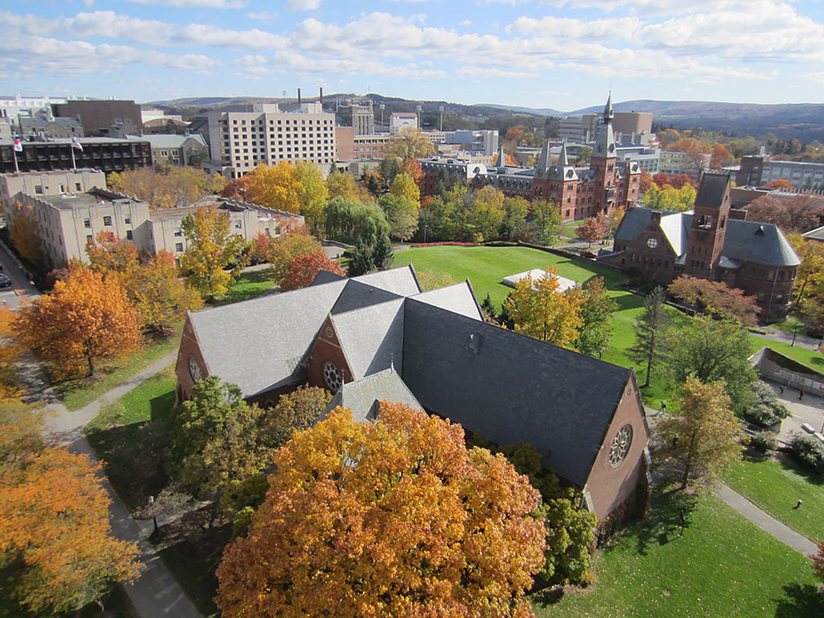 Cornell University campus as seen from McGraw Tower